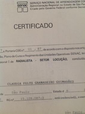 CertificateRadioTV