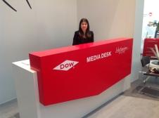 At media desk of K-Show in Dusseldorf (2013)