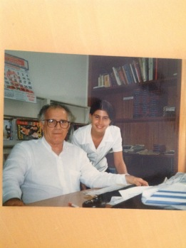 At Trianon Radio with owner Fernando Vieira de Mello