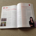 Two-page article about Corporate Social Responsibility at Dow published at Ser Responsable magazine in 2010