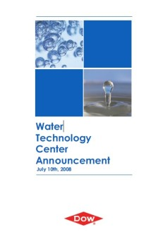 2008 - Global Water R&D Center announcement | Coordination of two press conferences the same day (Madrid in the morning and Tarragona in the afternoon) to announce the construction of a Global Water R&D Center