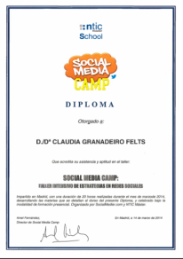 Intensive course about social media – Social MediaCamp – 2014